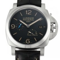 Panerai Luminor 1950 3 Days GMT Power Reserve Automatic Steel 44mm Black United States of America, New York, New York