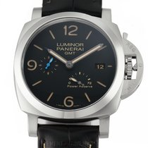 Panerai Luminor 1950 3 Days GMT Power Reserve Automatic Aço 44mm Preto