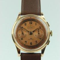 18 krt. gold vintage chronographe