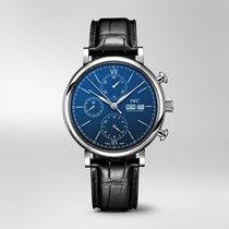 IWC Portofino Chronograph Сталь 42mm Синий