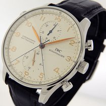 IWC Portuguese Chronograph Steel 41mm Silver Arabic numerals United States of America, California, Los Angeles