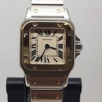 Cartier Santos Galbée Złoto/Stal 24mm Srebrny Rzymskie