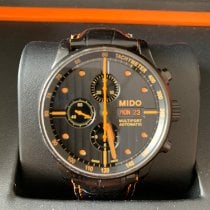 Mido Multifort Chronograph Steel 44mm Black No numerals