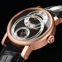 Benzinger Regulateur Roségoud 42mm Zilver (massief) Romeins