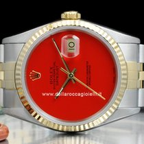 Rolex Datejust pre-owned 36mm Red Date Fold clasp