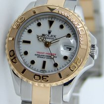 Rolex Yacht-Master pre-owned 29mm White Date Gold/Steel