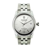 Tudor 55000-68050-Silver Glamour Date in Steel - on Steel...