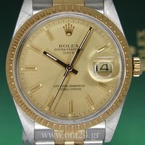 Rolex Oyster Perpetual Date 15053 18k Gold Steel MINT  Full SET