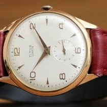 Titus Rose gold 35mm Manual winding pre-owned