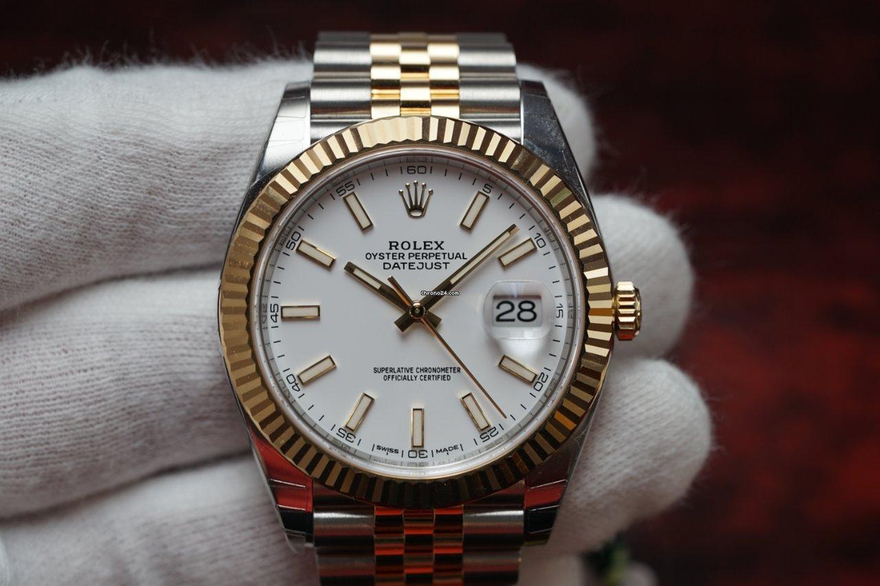 Rolex Two,Tone Datejust 41 White Dial Jubilee Bracelet 126333 NEW