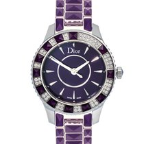 Dior 33mm Quartz new Christal Purple