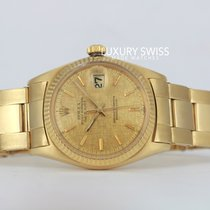 Rolex Datejust Yellow Gold Champagne Linen Dial RARE