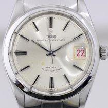 Tudor Prince Oysterdate Steel 35mm Silver No numerals