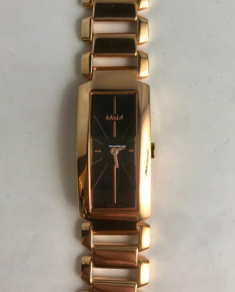 M Watch Damenuhr amp;m 11753 Edelstahl Swiss Vergoldet QdrCtsh