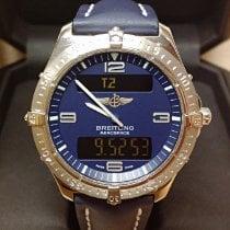 Breitling Aerospace Aur alb 42mm Albastru Arabic