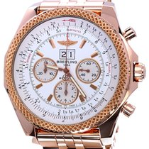 Breitling Rose gold Automatic White No numerals 48mm pre-owned Bentley 6.75