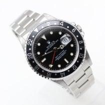 Rolex GMT-Master Stal 40mm Czarny Bez cyfr