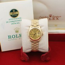 Rolex Or jaune Remontage automatique Champagne 26mm occasion Lady-Datejust