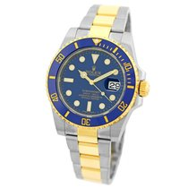 Rolex Ceramic Automatic Blue 40mm pre-owned Submariner Date