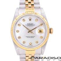 Rolex Datejust Zlato/Ocel 36mm Perleťová