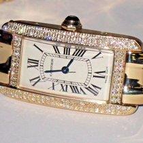 Cartier Tank Américaine Очень хорошее Желтое золото 19mm Автоподзавод
