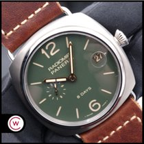 Panerai Radiomir 8 Days Tytan 45mm Zielony Arabskie