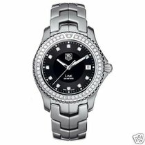 TAG Heuer Link Quartz pre-owned 39mm Black Date Fold clasp