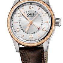 Oris Big Crown Pointer Date,Silver Dial, Steel\Gold, Leather