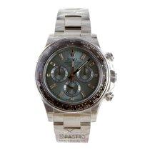 Rolex Daytona Platinum Ice Blue Baguette Diamond Dial - 116506