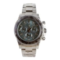 Rolex Daytona Platinum Ice Blue Baguette Diamond Dial - 116506