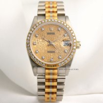Rolex Rare Factory Rolex Midsize DateJust 68149 Tridor Diamond