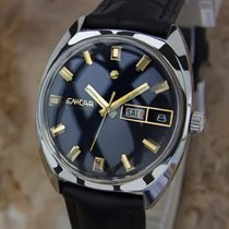 Enicar Swiss Made 1970 Mens Stainless Steel Auto Vintage Day...