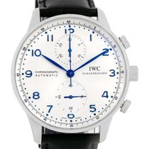 IWC Portuguese Chrono Automatic Steel Mens Watch Iw371417 Box...