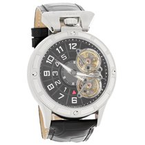 Stuhrling Emperor Ion Mens Leather Strap Automatic Watch...