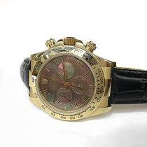 Rolex Daytona 18k Yellow Gold Tahitian Roman Dial