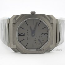 Bulgari new Automatic Display Back Small Seconds Only Original Parts 40mm Titanium Sapphire Glass
