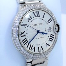 Cartier Ballon Bleu W69012z4 2.25ct Diamond Bezel 42mm Xl Size...