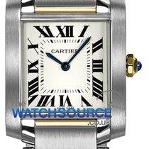 Cartier Tank Française Gold/Steel 25mm Silver Roman numerals