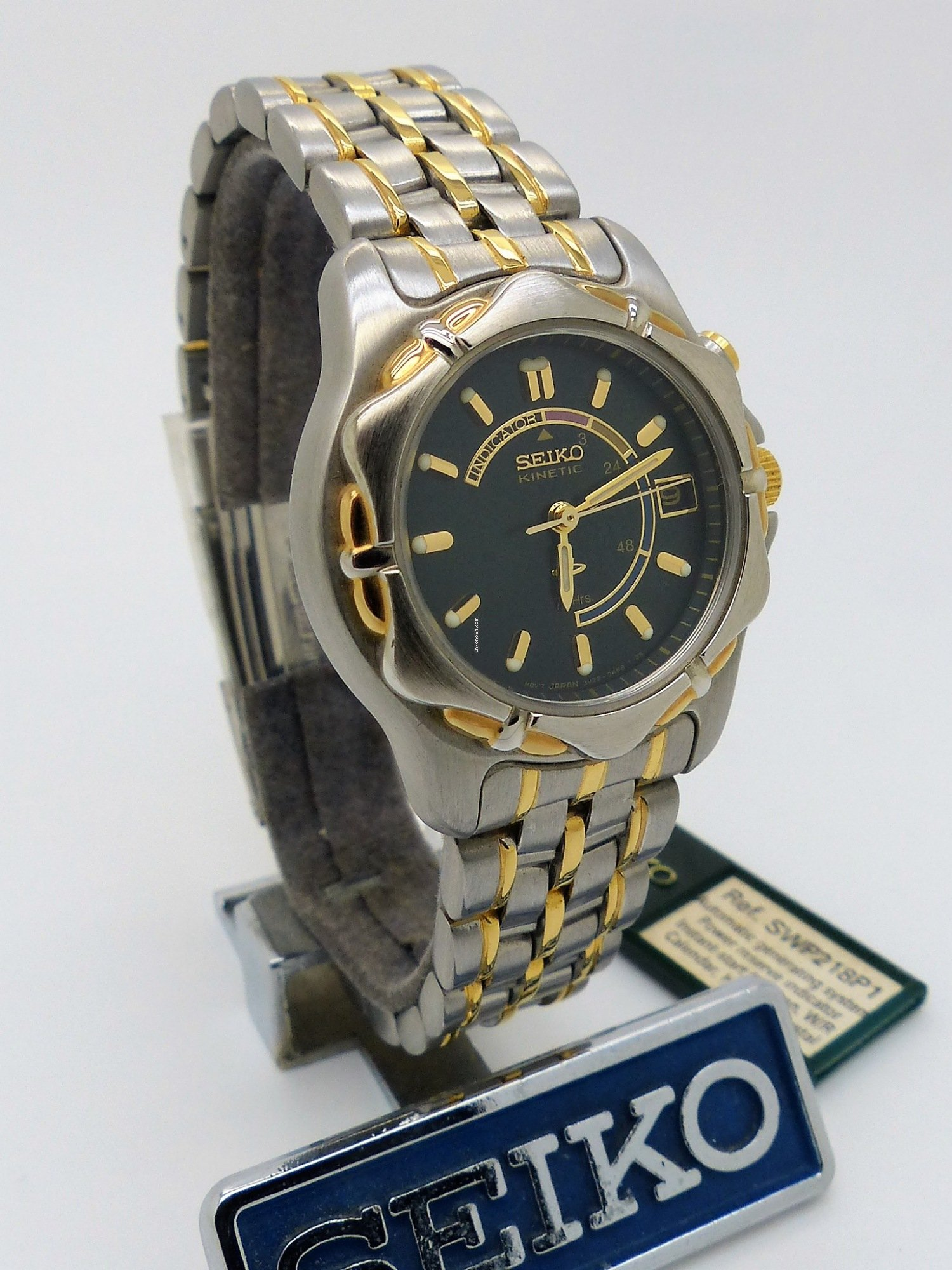 Seiko Ladies Kinetic 3M22-0A33 72hrs Ref:SWP218P1 for $347