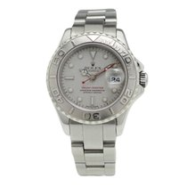 Rolex Platinum Automatic Grey 29mm pre-owned Yacht-Master