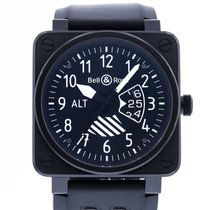 Bell & Ross pre-owned Automatic 46mm Black Sapphire Glass