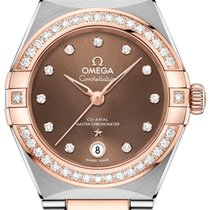 Omega Constellation Goud/Staal 29mm Bruin