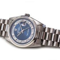 Rolex Day-Date Platine 36mm Bleu Sans chiffres France, Paris/France/Europe
