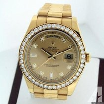 Rolex Day-Date II Or jaune 41mm Champagne