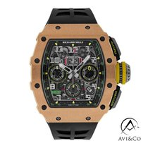 Richard Mille RM 011 Rose gold 42mm Transparent Arabic numerals United States of America, New York, New York