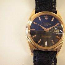 Rolex Or rouge Remontage automatique Noir Sans chiffres 34mm occasion Oyster Perpetual Date