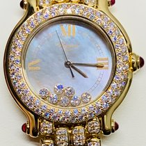 Chopard Yellow gold Quartz White pre-owned Happy Sport