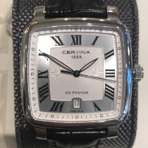 Certina DS Podium Square Steel 39mm Silver Roman numerals