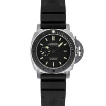 Panerai Titanium Automatic Black No numerals 47mm pre-owned Luminor Submersible 1950 3 Days Automatic