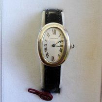 Cartier Baignoire Or blanc 31mm Blanc Romain France, PARIS
